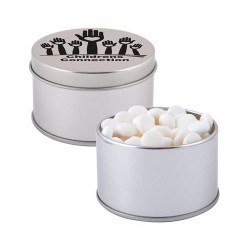 Dynamints in Silver 2 Piece Round Tin