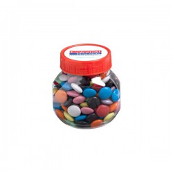 Plastic Jar Filled with Choc Beans 170G (Mixed Coloured Choc Beans)