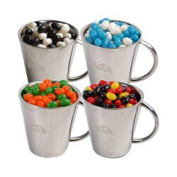 Corporate Colour Mini Jelly Beans in Double Wall Stainless Steel Cup