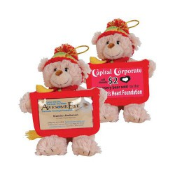 Versatile Business Card Bear With Beanie