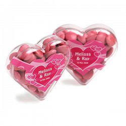 Acrylic Heart Filled with Choc Beans 50G (Mixed Colours)