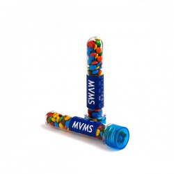 Test Tube Filled with Mini M&Ms 40G