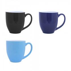 Vancouver Cup Shaped Mug, Black, Blue/white inside - LARGE (440ml)