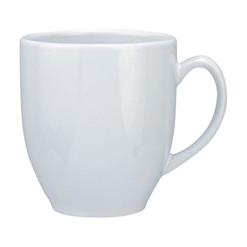 Vancouver Cup Shaped Mug All White Large 440ml