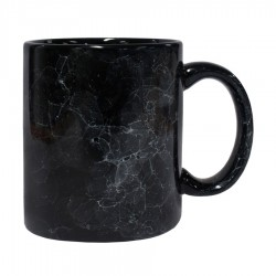 Toronto Can Mug Inner Glossy Black/outer marble black(300ml)