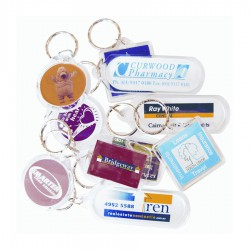 Square Clear Acrylic Keyring (includes full colour process)