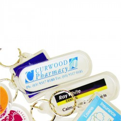 Long Oblong Clear Acrylic Keyring (includes full colour process)