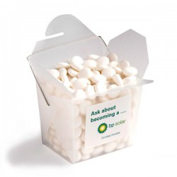 Frosted Pp Noodle Box Filled with Mints 100G