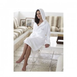 Coral Fleece Bath Robe with Hood