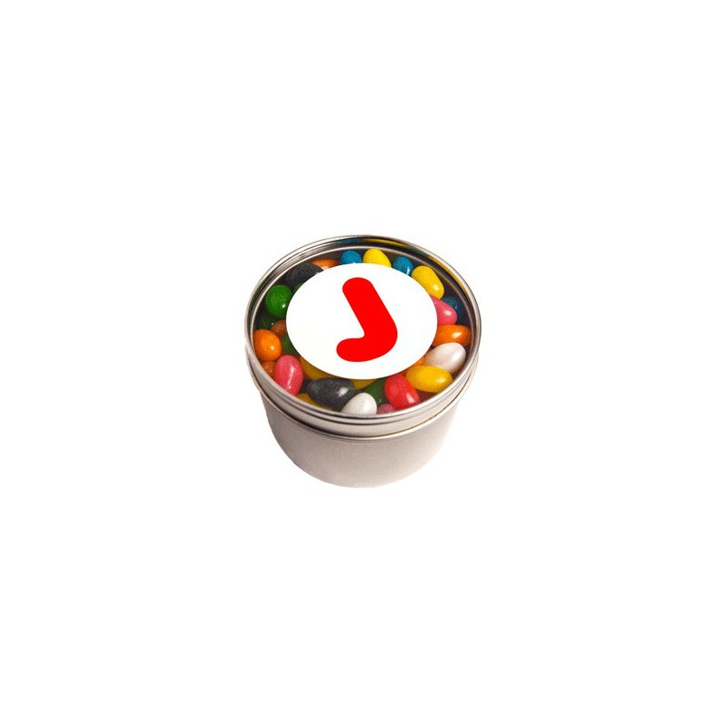 Small Round Windows: Small Round Acrylic Window Tin Fillled With Jelly Beans