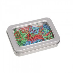 Stationery Clips - Rectangular Tin