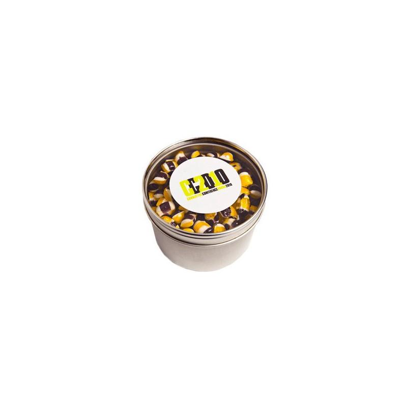 Small Round Windows: Small Round Acrylic Window Tin Fillled With Tiny Humbugs