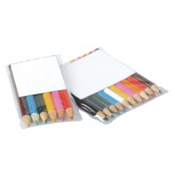 Coloured Half Sized Pencils in PVC Pouch 6pk