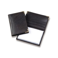 Leather Card Holder with Plastic Insert (Made To Order)