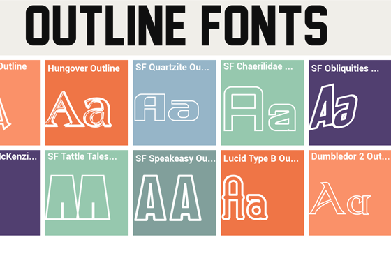 OUTLINED FONTS